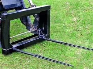 TRACTOR LOADER TWO TINE BALE SPIKE EURO 8 BRACKETS