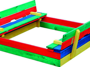 Wooden Children's Play Pit – Multi Colour