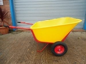 300 Ltr Wheelbarrow – Yellow