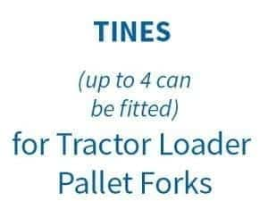 TINES for Tractor Loader Pallet Forks on Euro 8 Bracket