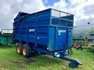 West 10 Tonne Silage Trailer