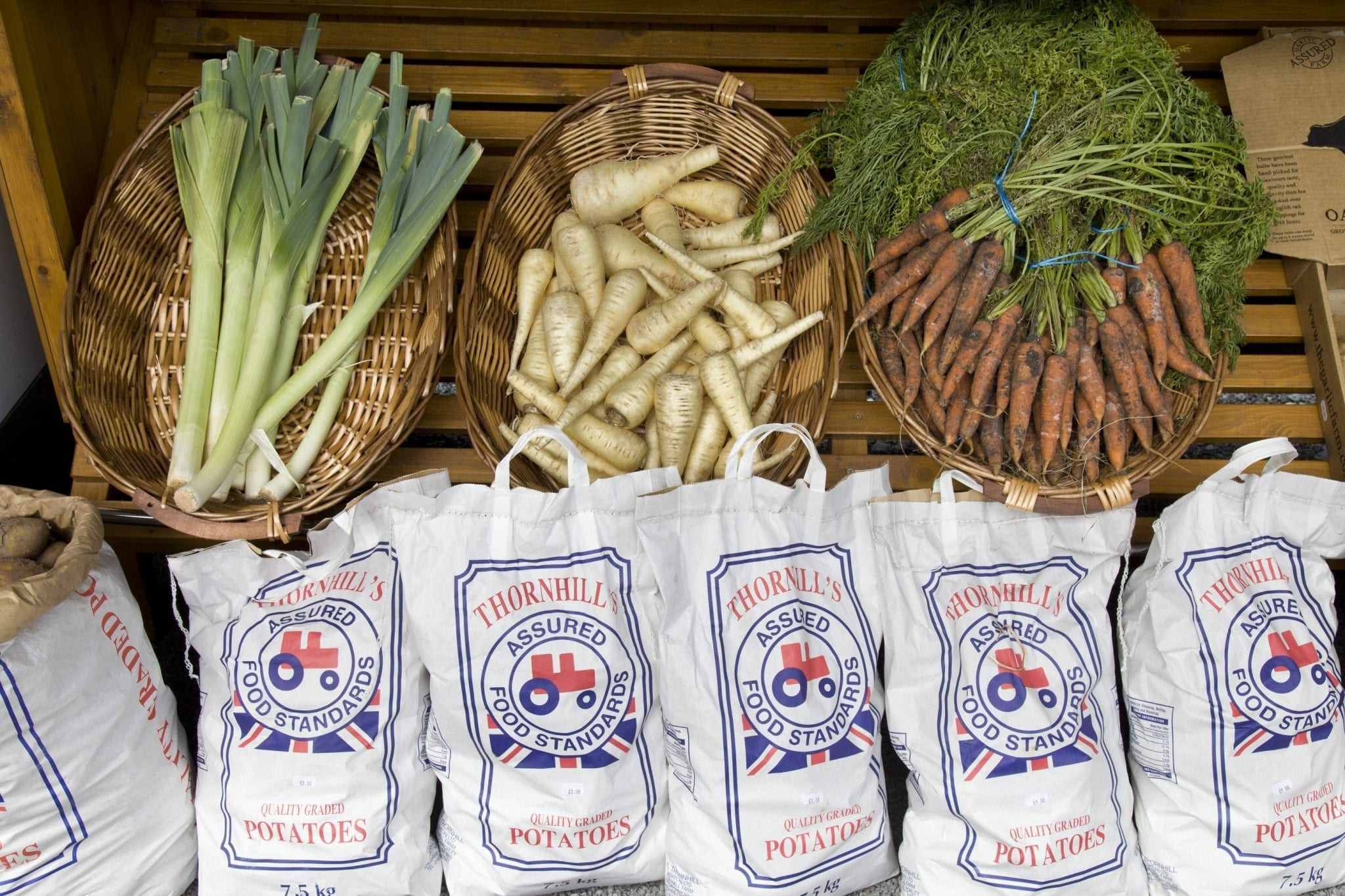 Fresh vegetables at Hopley House farm shop