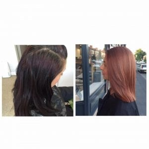 colour change at Sand hairdressing