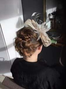 wedding hair at sand hairdressing