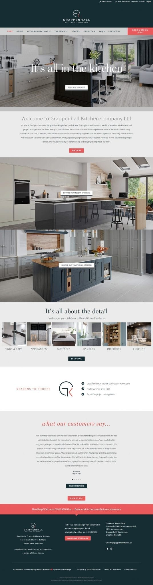 Grappenhall Kitchen Company website screenshot