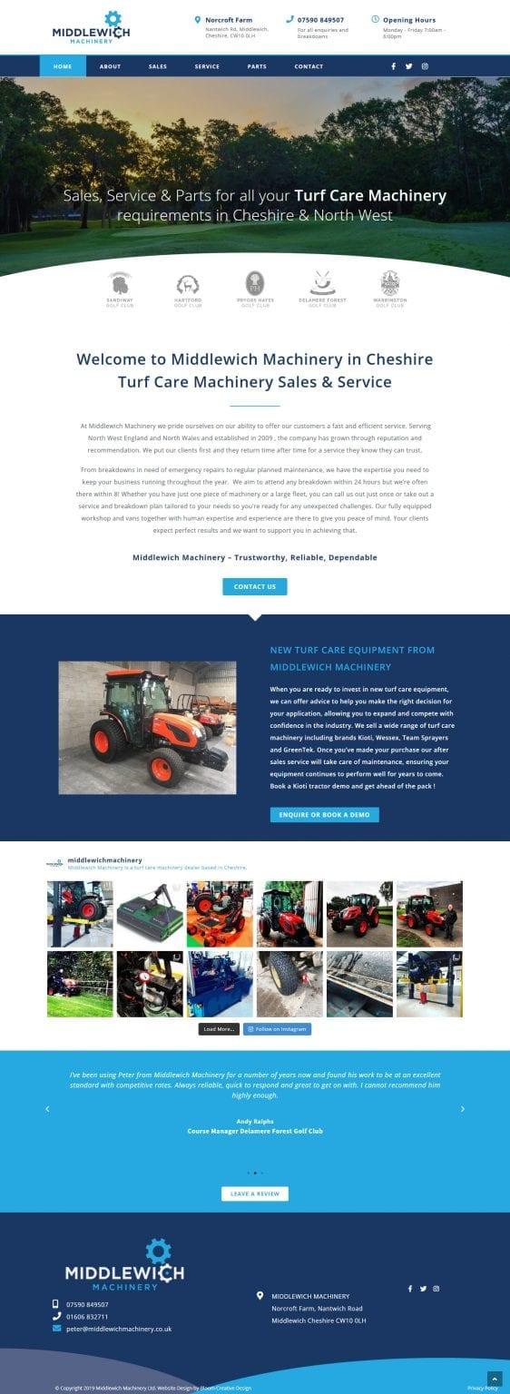 Middlewich Machinery Website screenshot