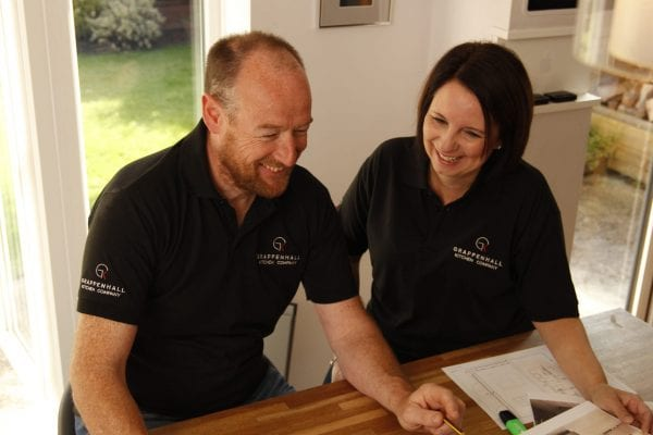 Neil and Carole Vernon from Grappenhall Kitchen Company