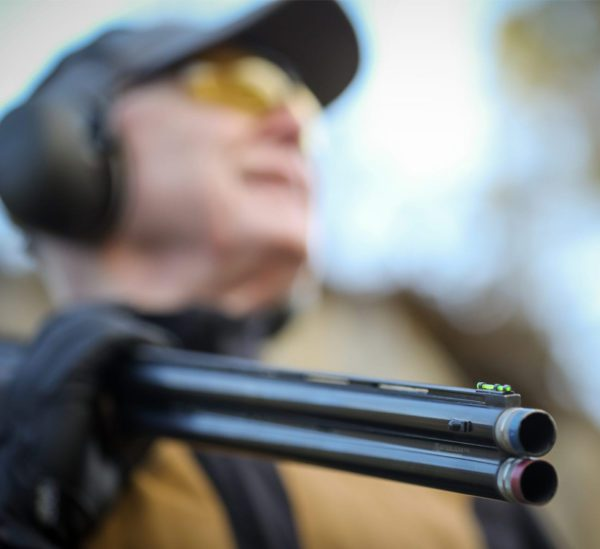 clay pigeon shooting with the SP shooting aid fitted