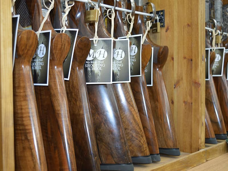 Mickley Hall Shooting School - New guns with tags