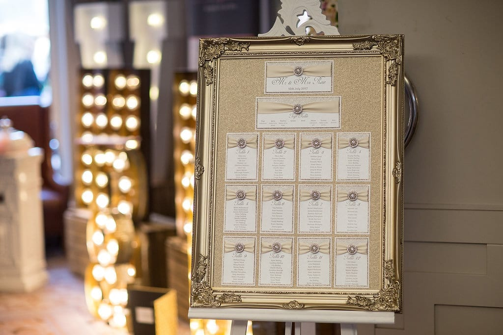 wedding table plan cheshire