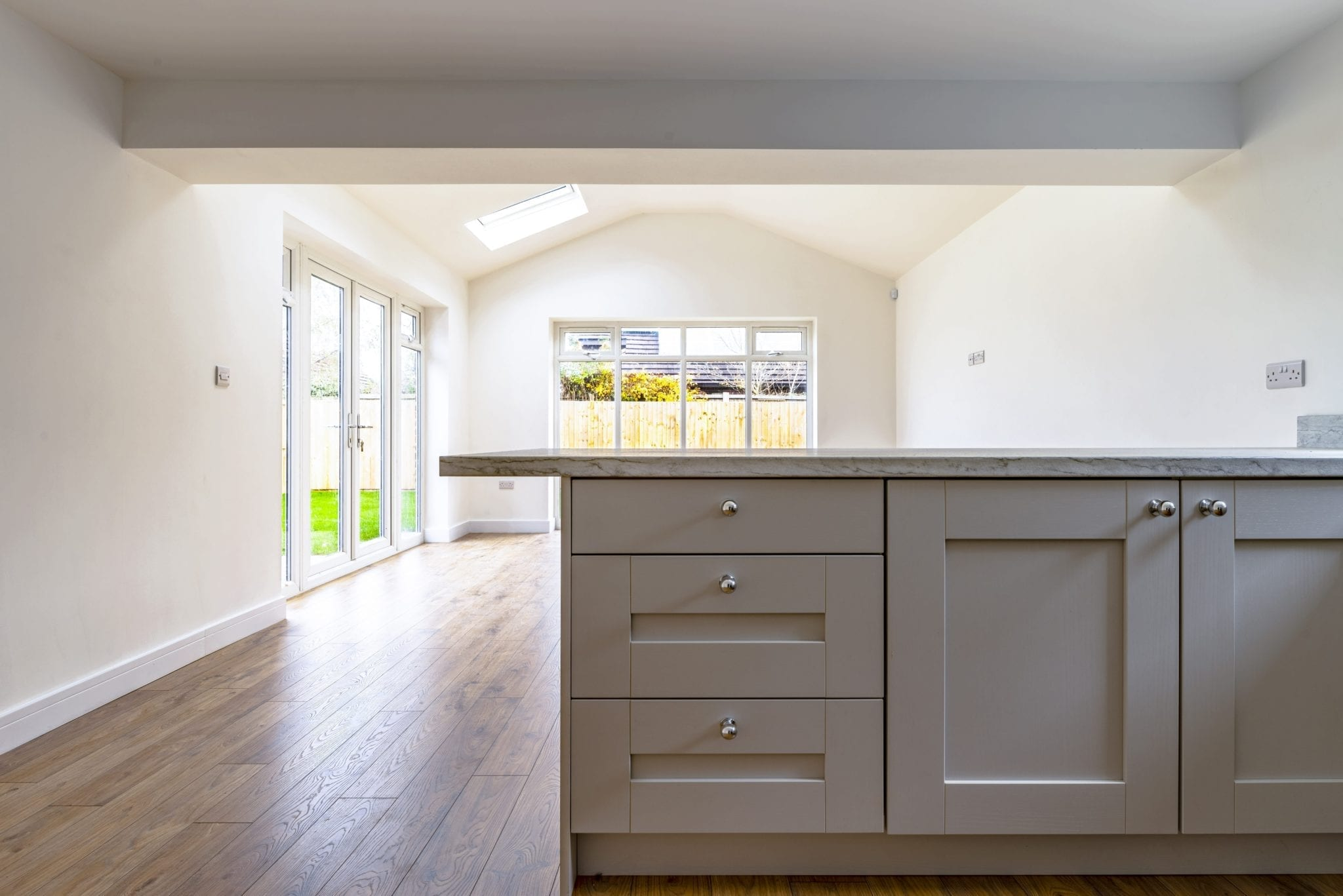 new kitchen and open plan living space