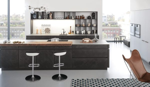 A mix of kitchen finishes