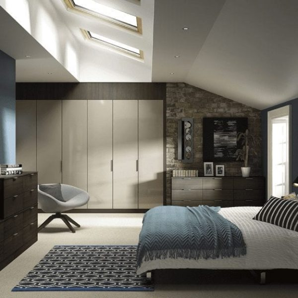 fitted bedroom furniture with sloped ceilings
