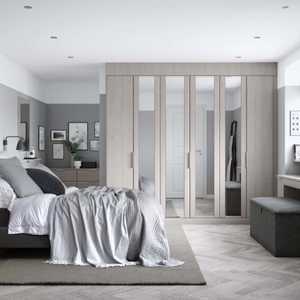 fitted wardrobes with mirrored doors