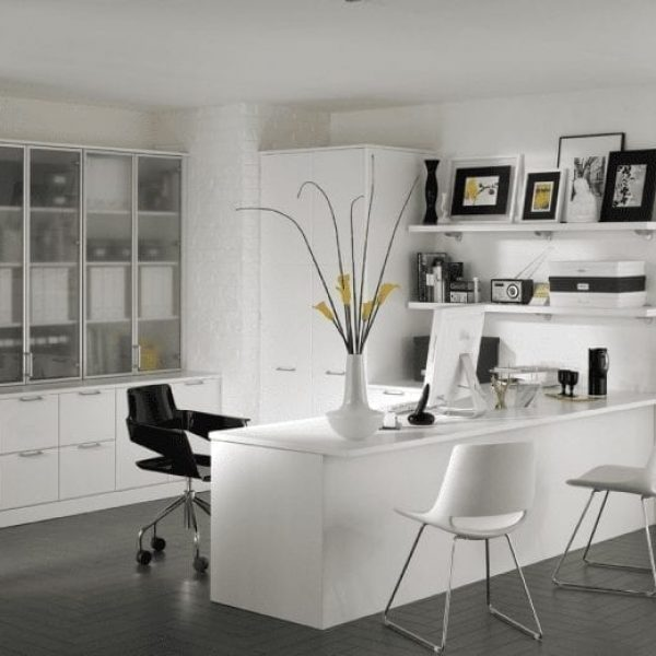 Sophisticated white home office furniture